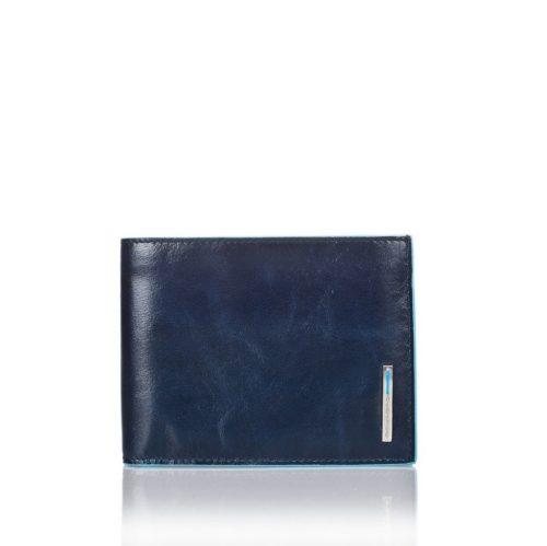 Portafoglio uomo Piquadro con 12 porta carte di credito Blue Square blu2