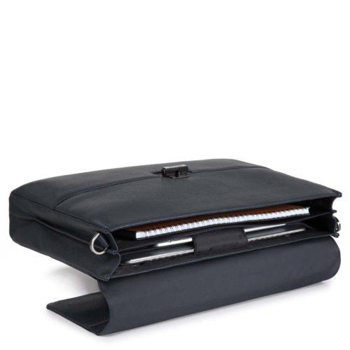 Cartella Piquadro porta computer con patta ILI dettagli