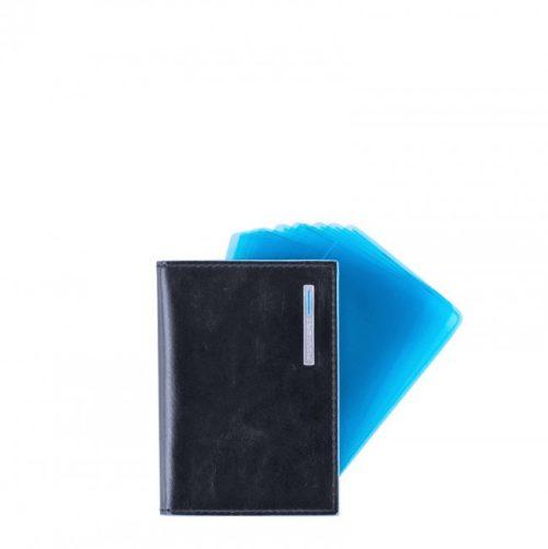 Porta carte di credito Piquadro a ventaglio Blue Square blu2