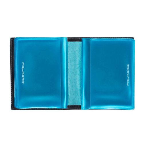 Porta carte di credito Piquadro tascabile Blue Square interno