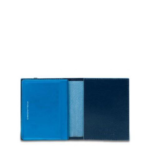Porta carte di credito Piquadro tascabile Blue Square interno blu2