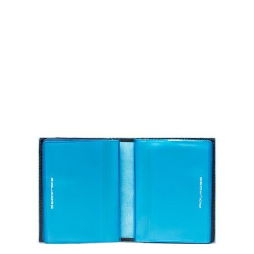Porta carte di credito Piquadro tascabile blu dett 3