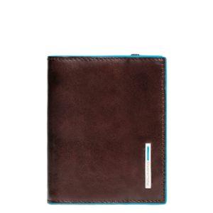 Porta carte di credito Piquadro tascabile mogano