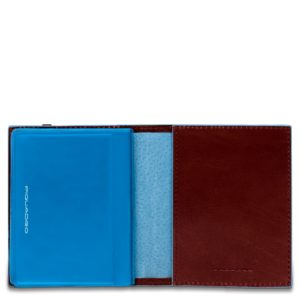 Porta carte di credito Piquadro tascabile mogano dett 1