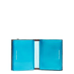 Porta carte di credito Piquadro tascabile mogano dett 3