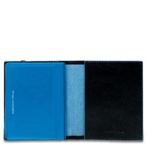 Porta carte di credito Piquadro tascabile nero dett 1