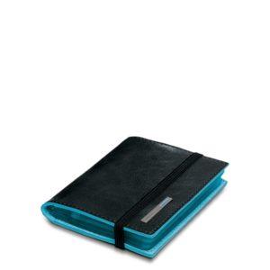 Porta carte di credito Piquadro tascabile nero dett 2