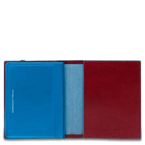Porta carte di credito Piquadro tascabile rosso dett 1