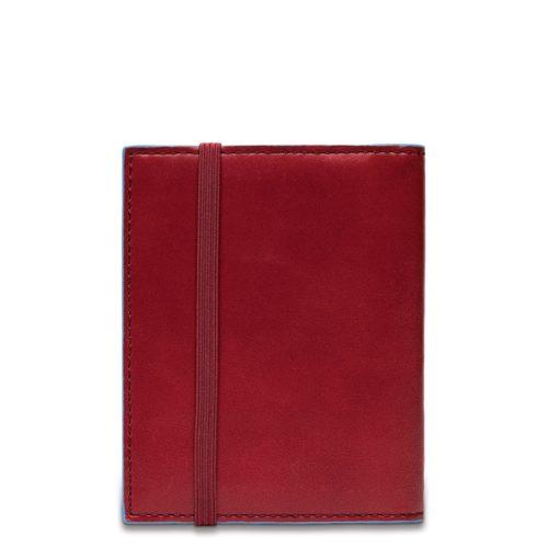 Porta carte di credito Piquadro tascabile rosso dett 2