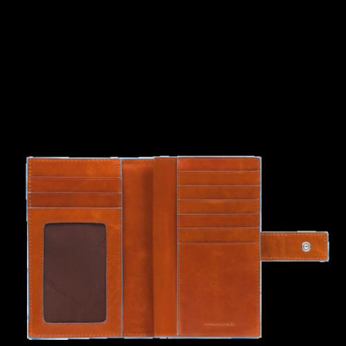 Portafoglio Piquadro donna con porta monete Blue Square arancio interno