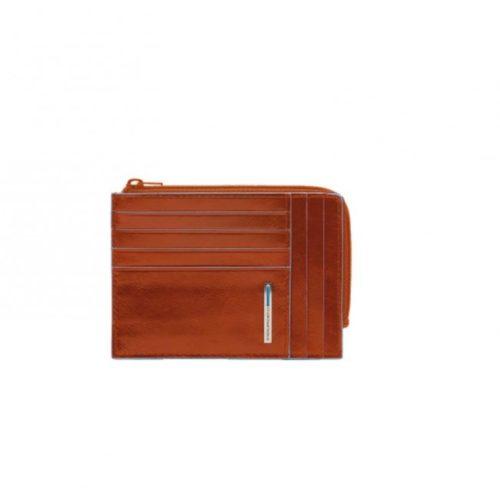 Portafoglio Piquadro ,portamonete, documenti e carte di credito Blue Square arancio