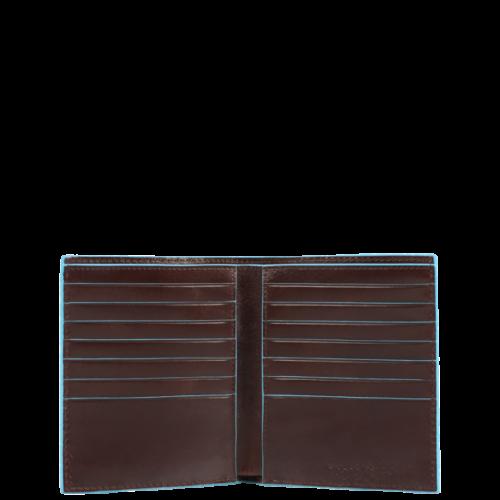 Portafoglio uomo Piquadro verticale Blue Square interno mogano