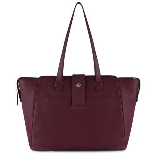Shopping bag Piquadro porta computer Bordeaux