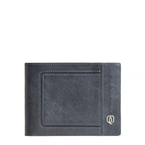 Portafoglio Piquadro uomo porta monete porta carte di credito Vibe bgr
