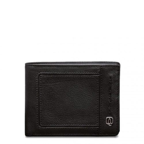 Portafoglio Piquadro uomo porta monete porta carte di credito Vibe nero