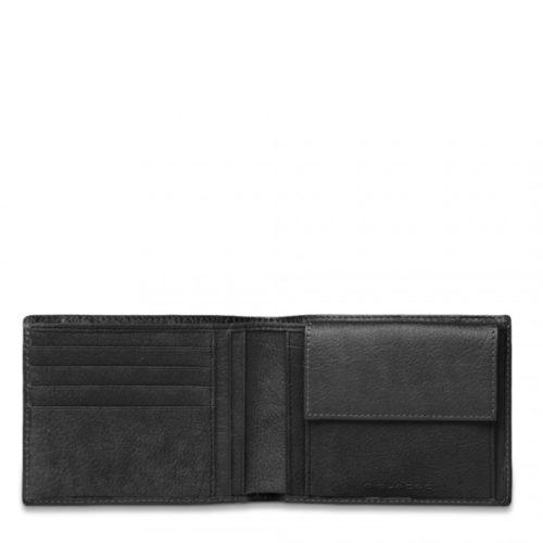 Portafoglio Piquadro uomo porta monete porta carte di credito Vibe nero interno