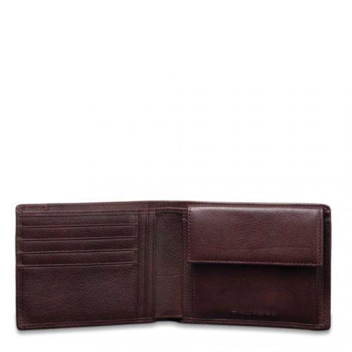 Portafoglio Piquadro uomo porta monete porta carte di credito Vibe tm interno