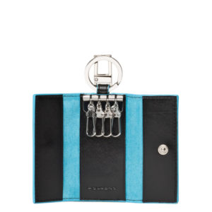 Portachiavi Piquadro con moschettone Blue Square 3