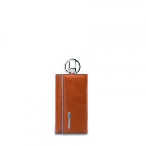 Portachiavi Piquadro per porta blindata con moschettone Blue Square 3