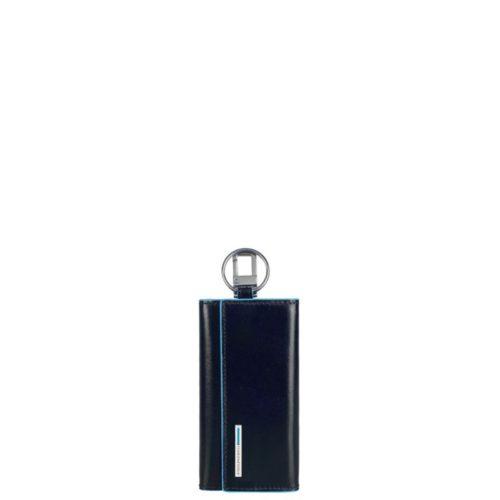 Portachiavi Piquadro per porta blindata con moschettone Blue Square 1