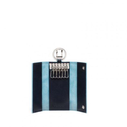Portachiavi Piquadro per porta blindata con moschettone Blue Square 4