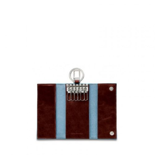 Portachiavi Piquadro per porta blindata con moschettone Blue Square 5