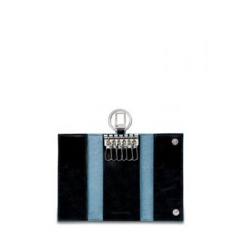 Portachiavi Piquadro per porta blindata con moschettone Blue Square 6