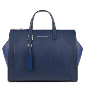Borsa Donna a due manici Piquadro Muse Color blu
