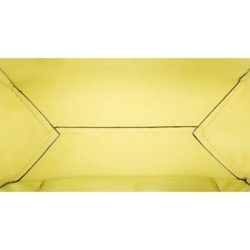 Borsa a due manici Piquadro gialla dett 5