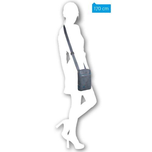 Borsello Piquadro in pelle organizzato porta iPad mini Blue Square 5
