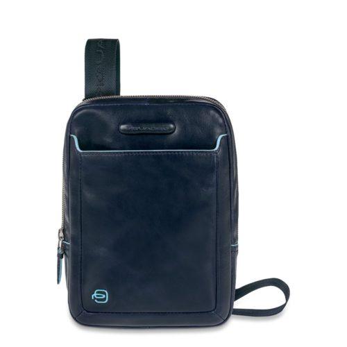 Borsello Piquadro in pelle organizzato porta iPad mini Blue Square 3