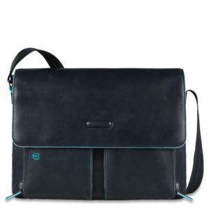 Messenger Piquadro Blue Square