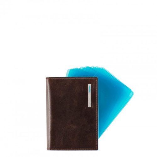 Porta carte di credito Piquadro a ventaglio Blue Square 2