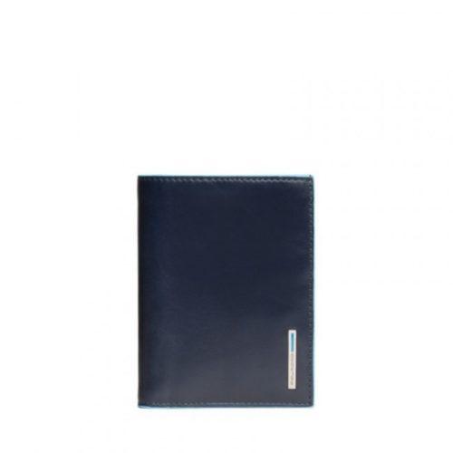 Portafoglio uomo Piquadro verticale Blue Square 4