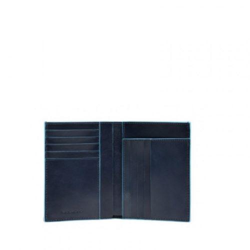 Portafoglio uomo Piquadro verticale Blue Square 5