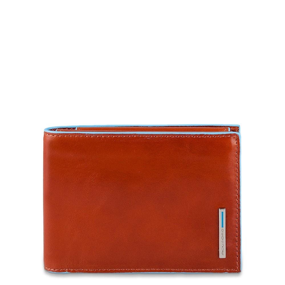 a5c77c81b3 Portafoglio uomo Blue Square con porta documenti e portamonete - The Gem  Flagship Store - PIQUADRO