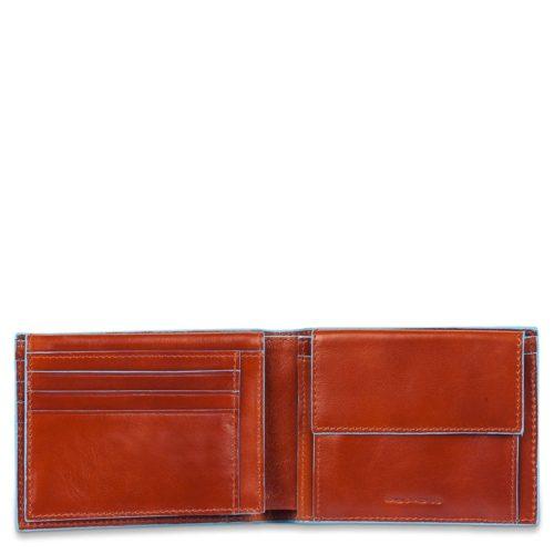 Portafoglio uomo Blue Square con porta documenti e portamonete 2