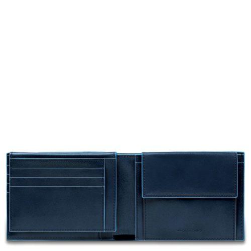 Portafoglio uomo Blue Square con porta documenti e portamonete 3