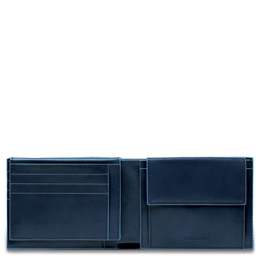 ca88c8b0c5 Portafoglio uomo Blue Square con porta documenti e portamonete - The ...