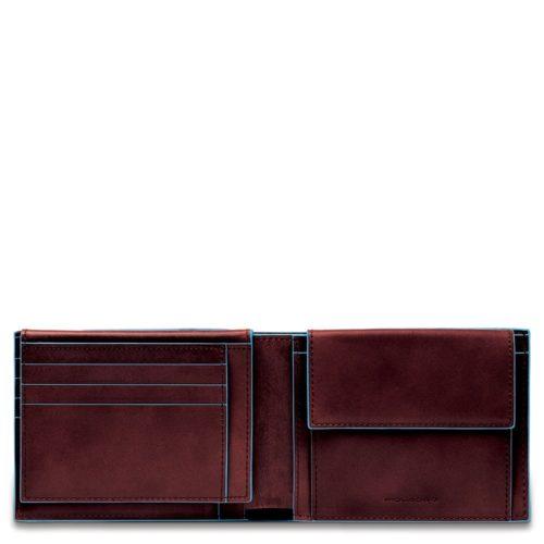 Portafoglio uomo Blue Square con porta documenti e portamonete 6