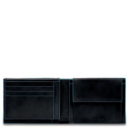 Portafoglio uomo Blue Square con porta documenti e portamonete 7