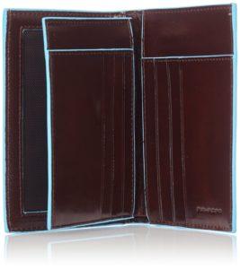 Portafoglio uomo verticale Piquadro con porta documenti Blue Square 2