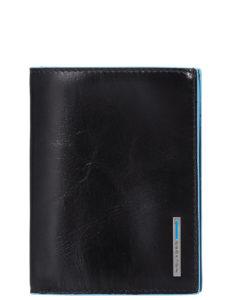 Portafoglio uomo verticale Piquadro con porta documenti Blue Square 1