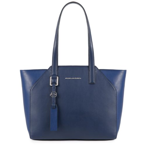 Shopping bag Piquadro blu