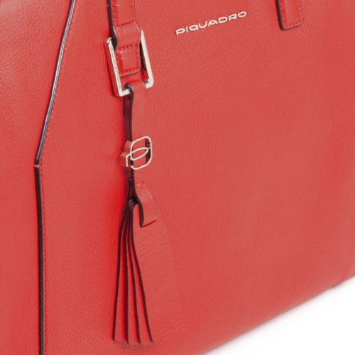 Shopping bag Piquadro rossa dett 1
