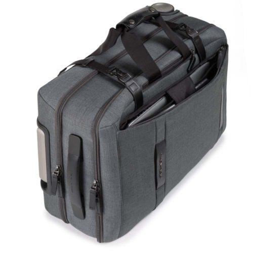 Trolley Piquadro cabina con scomparto porta PC e portabilità a borsone Move2 2