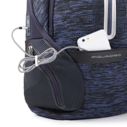 Zainetto Piquadro porta PC con pla cca USB e micro-USB ed elemento catarifrangente Coleos 2