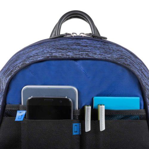 Zainetto Piquadro porta PC con pla cca USB e micro-USB ed elemento catarifrangente Coleos 4