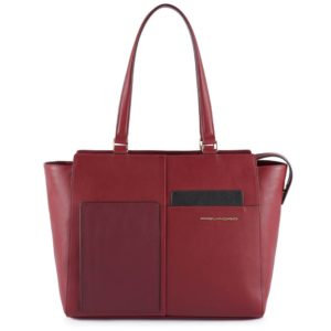 Shopping Bag Piquadro bordeaux
