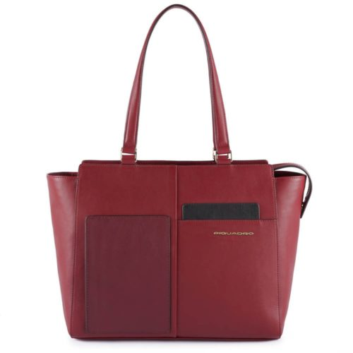 Shopping-bag-piquadro-bordeaux